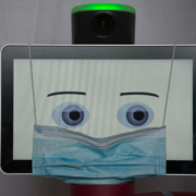 Cobot wearing a face mask